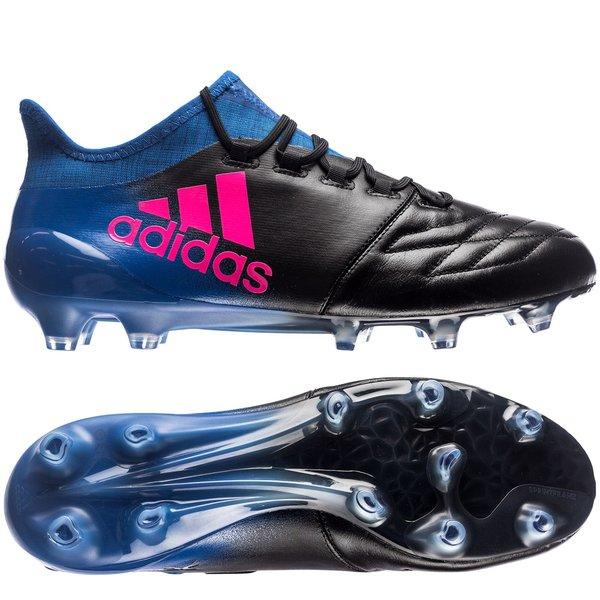 05a051857 adidas X 16.1 FG/AG Leather Blue Blast - Core Black/Shock Pink/Blue |  www.unisportstore.com