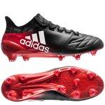 adidas X 16.1 FG/AG Leder Red Limit - Schwarz/Weiß/Rot