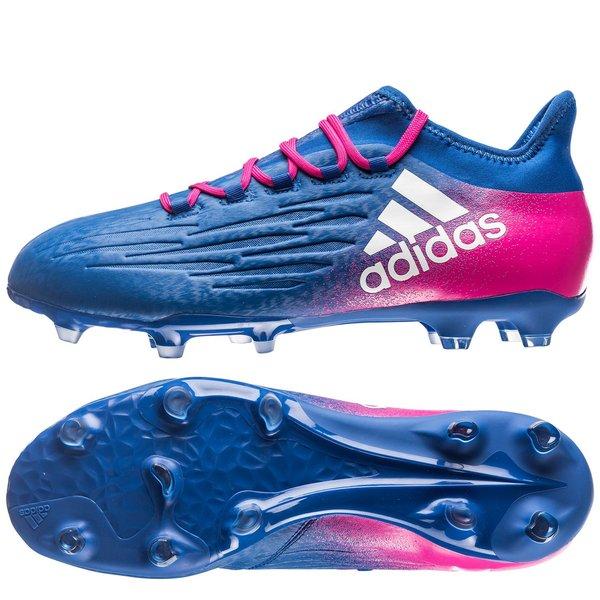 size 40 e54f8 6e32c adidas X 16.2 FG/AG Blue Blast - Blue/White/Shock Pink | www ...