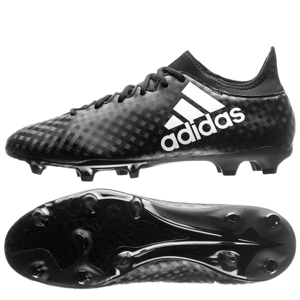 adidas X 16.3 FG AG Chequered Black - Core Black White  7e393ed23