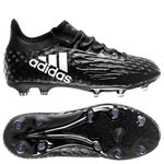 adidas X 16.1 FG/AG Chequered Black - Core Black/White Kids