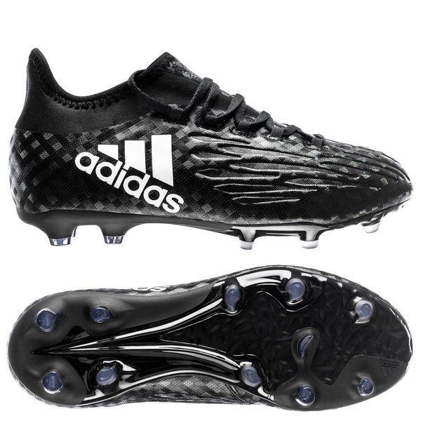 purchase cheap 9bc55 8e97d adidas X 16.1 FG AG Chequered Black - Core Black White Kids   www ...