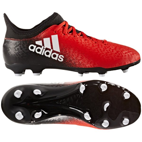 43f0c4465345 adidas X 16.3 FG AG Red Limit - Red White Core Black Kids