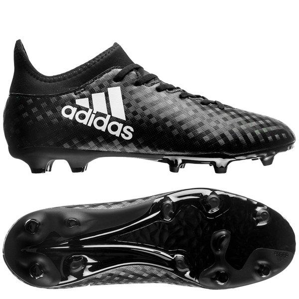 adidas X 16.3 FG AG Chequered Black - Core Black White Kids  d40e5e9f8