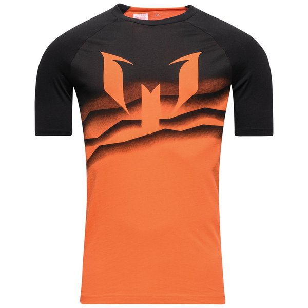 adidas T Shirt Messi Graphic OrangeBlanc Enfant