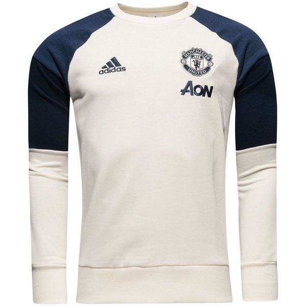 manchester united sweat shirt blanc bleu marine. Black Bedroom Furniture Sets. Home Design Ideas