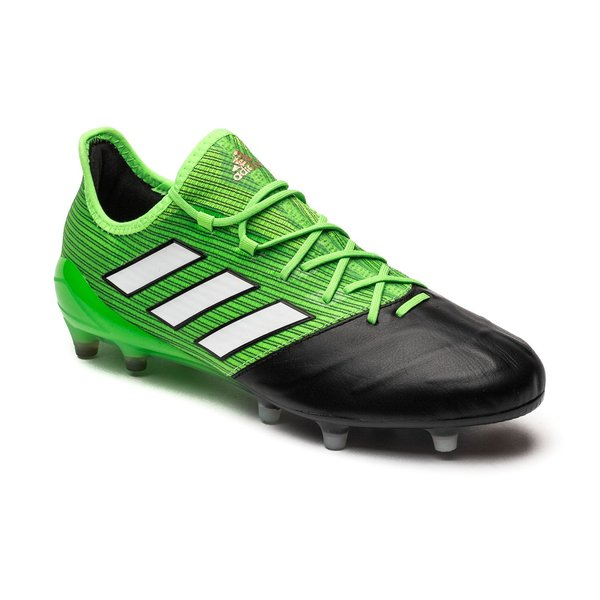 size 40 8672d f4635 adidas ACE 17.1 Leather FG/AG Turbocharge - Solar Green ...