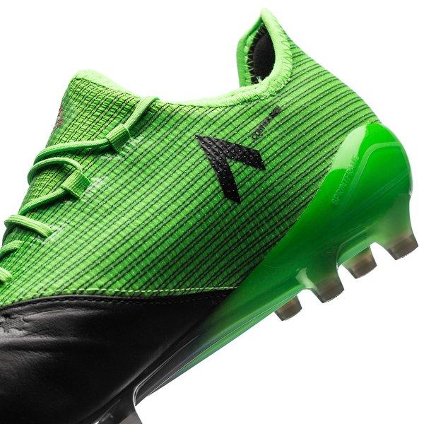 adidas ACE 17.1 Leather FGAG Turbocharge Solar GreenFeather WhiteCore Black