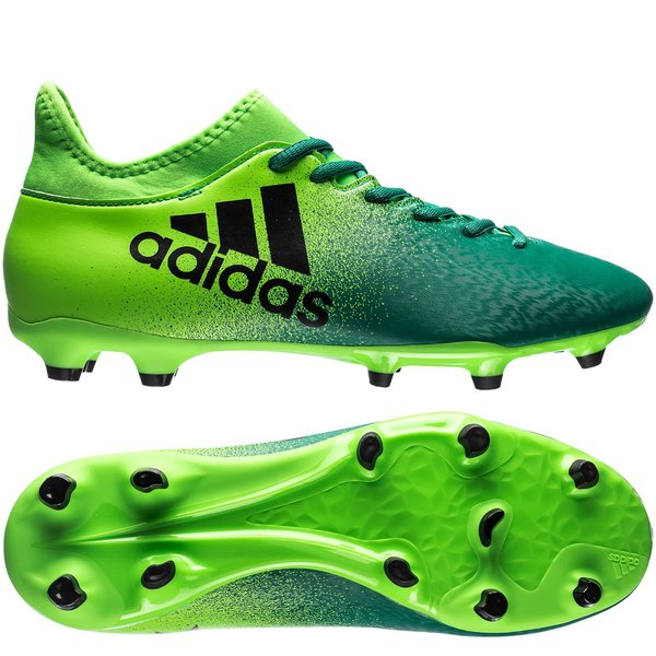 adidas x 16.3 fg ag turbocharge - solar green core black - football boots  ... e0daab223