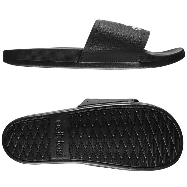 4dd1e3dc3cd9 adidas Slide adilette Supercloud Plus - Core Black Silver Metallic ...