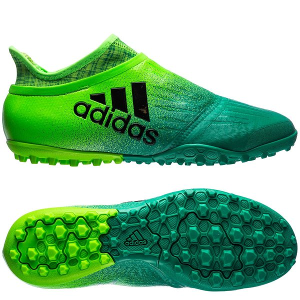 adidas x tango 16 purechaos tf turbocharge - vert/noir - chaussures de football