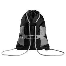 Gymnastik pose med Under Armour logo på. Den lukkes og åbnes via snorene og er yderst slidstærk. En smart feature er klipsen som sidder på snorene, hvilket h