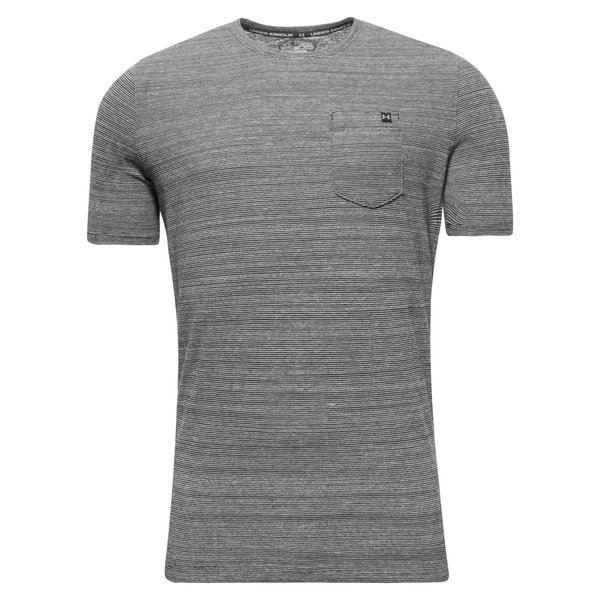 under armour t shirt charged cotton pocket black www