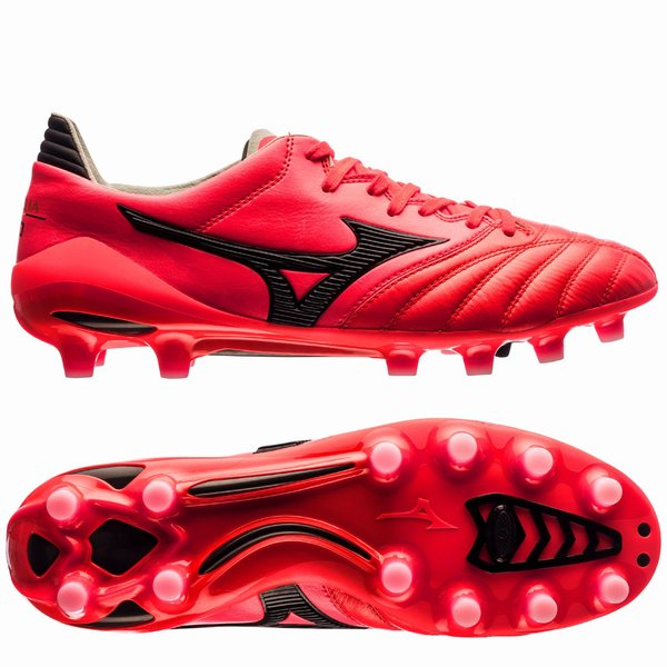 the latest be702 3fd4c Mizuno Morelia Neo II FG Made in Japan - Fiery Coral/Black ...