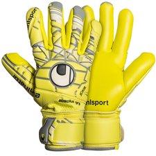 Uhlsport Keepershandschoenen Eliminator Absolutgrip Finger Surround - Geel/Grijs
