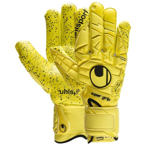 uhlsport goalkeeper gloves eliminator supergrip hn - lite flue yellow black  - goalkeeper gloves ... 0dbc7b162