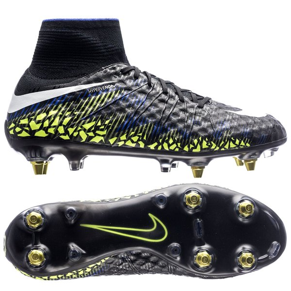 915093c6201 Nike Hypervenom Phantom II SG-PRO Anti-Clog Dark Lightning Pack -  Black/White/Volt