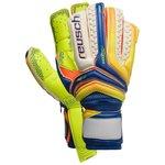 Reusch Goalkeeper Gloves Serathor Supreme G2 Ortho-Tec - Dazzling Blue/Safety Yellow