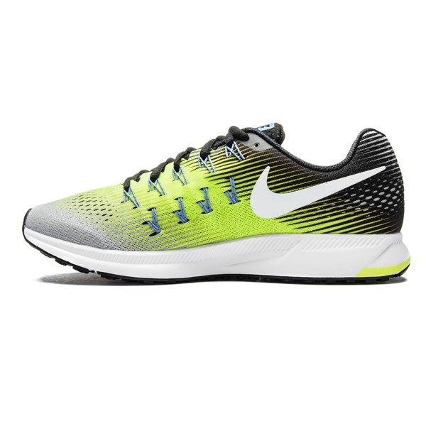 Nike Chaussures de Running Air Zoom Pegasus 33 Argenté/Blanc/Jaune