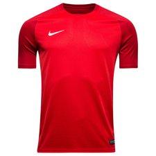 Spilletrøje fra Nike i et enkelt, men utroligt vellykket design. Trøjen har en flot V-udskæring og kontrastfarve på ærmerne, samt ned langs siden giver desig