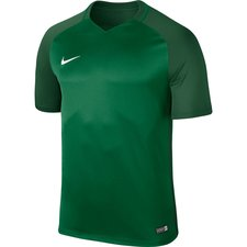 nike spilletrøje trophy iii - grøn børn - fodboldtrøjer