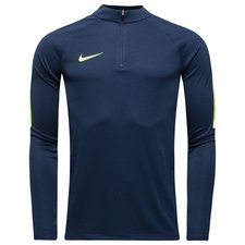 Nike Training Shirt Midlayer Squad 17 Drill Top II - Obsidian/Volt