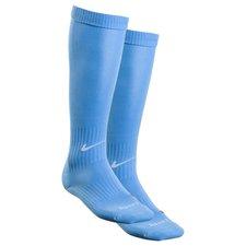 Klassisk fodboldsok fra Nike. Sokken er udstyret med Nike Dri-FIT, som betyder at de har en ventilerende og præstations-fremmende effekt.