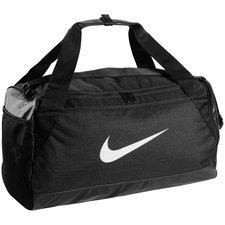 Nike Brasilia taske i str. Small, som er perfekt til at have med ud på fodboldbanen. Bunden er lavet i et fuldstændig vandtæt materiale, så du roligt kan tag