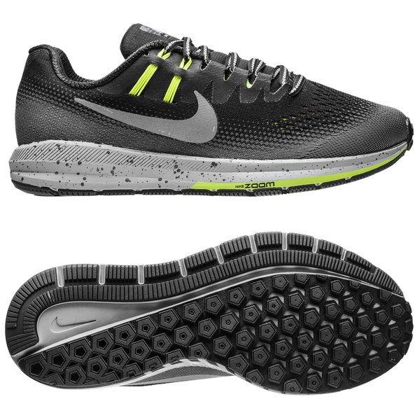 15b4610edc0d Nike Running Shoe Air Zoom Structure 20 Shield - Black Metallic Silver Dark  Grey Woman. Read more about the product. - running shoes. - running shoes  ...