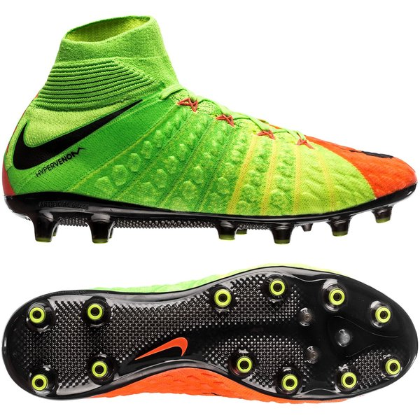 innovative design 40fe7 4b6dd Nike Hypervenom Phantom 3 DF AG-PRO Radiation Flare - Grønn Sort Oransje
