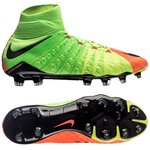 Nike Hypervenom Phantom 3 DF FG Radiation Flare - Grøn/Sort/Orange