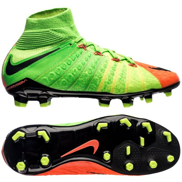 6c66381827c0c Nike Hypervenom Phantom 3 DF FG Radiation Flare - Vert Noir Orange Enfant 0