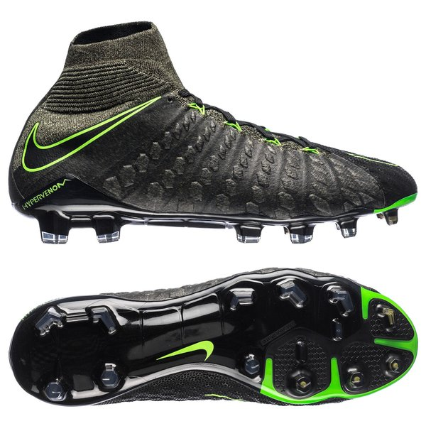 52a0a8fab997 Nike Hypervenom Phantom 3 DF FG Tech Craft - Black Electric Green Sequoia.  Read more about the product. - football boots. - football boots image shadow