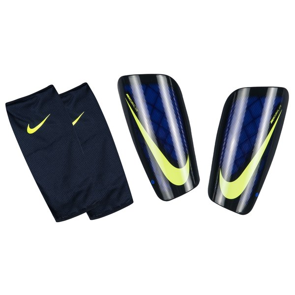 nike prot ge tibias mercurial lite bleu jaune fluo. Black Bedroom Furniture Sets. Home Design Ideas