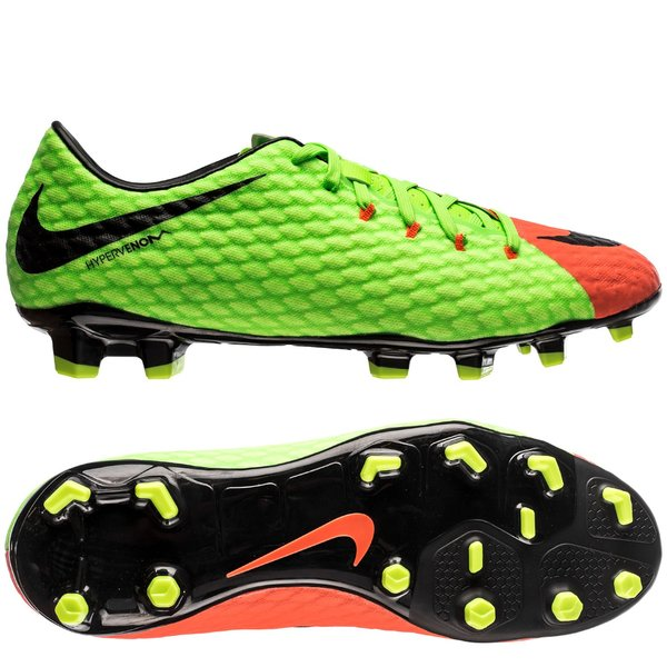 10232b57666a Nike Hypervenom Phelon 3 FG Radiation Flare - Electric Green Black ...