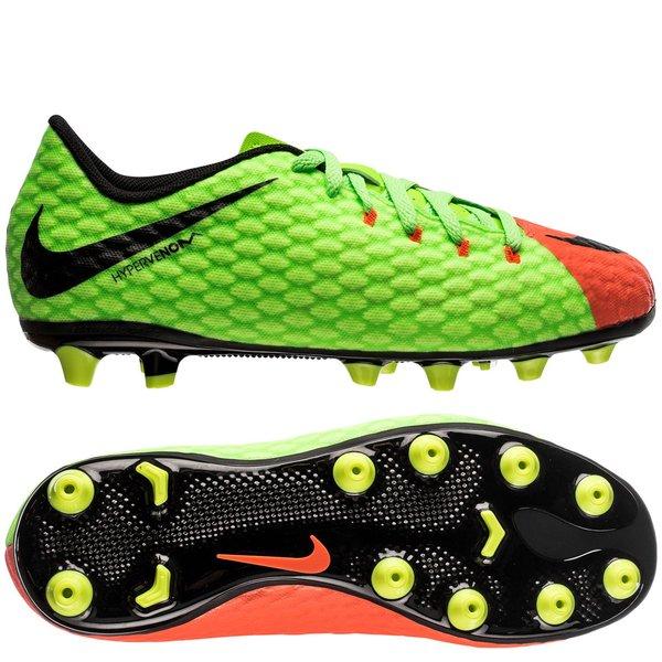sports shoes 56cb1 a9aa7 Nike Hypervenom Phelon 3 AG-PRO Radiation Flare - Vert/Noir/Orange Enfant