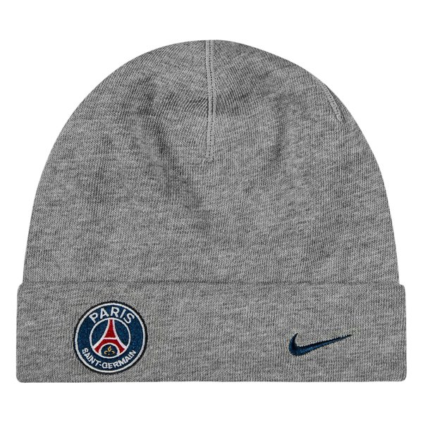 Paris Saint Germain Beanie Training Dk Grey Heather Midnight Navy Www Unisportstore Com