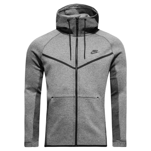 Nike Veste à Capuche FZ Tech Fleece Windrunner AOP GrisNoir
