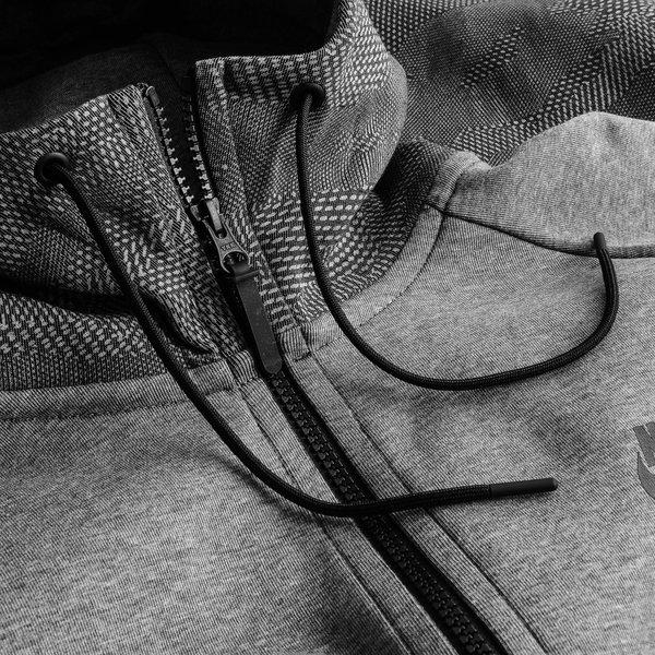 Nike Veste à Capuche FZ Tech Fleece Windrunner AOP GrisNoir