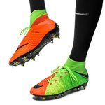 Nike Hypervenom Phantom 3 DF SG-PRO Anti-Clog Radiation Flare - Grøn/Sort/Orange