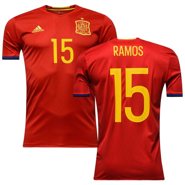 new product 58a94 0713c Spain Home Shirt 2016/17 RAMOS 15 | www.unisportstore.com