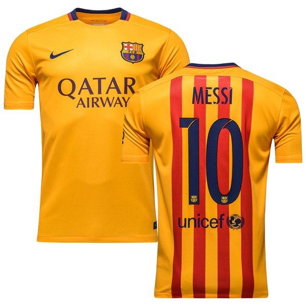 19e40fafe 90.00 EUR. Price is incl. 19% VAT. -19%. Barcelona Away Shirt 2015 16 MESSI  10 Kids