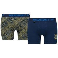 jbs underbukser 2-pack brøndby if - blå/gul - undertøj