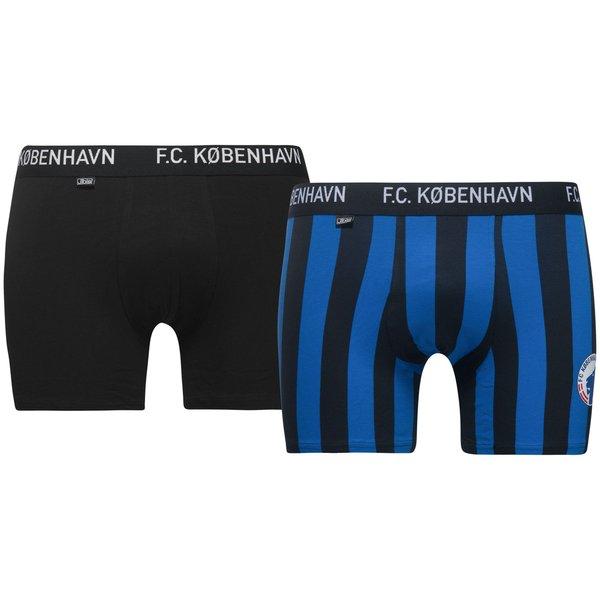 jbs underbukser 2-pack f.c. københavn - sort/blå - undertøj