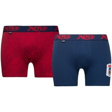 jbs trunks 2-pack agf - blue/red - underwear