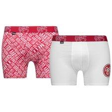 jbs underbukser 2-pack aab - rød/hvid - undertøj