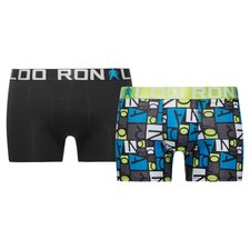 cr7 underwear trunks 2-pack - black/green/blue kids - underwear