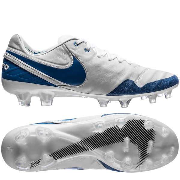 the latest 6151f 77aaa nike tiempo legend 6 fg revolution - witblauw limited edition -  voetbalschoenen ...
