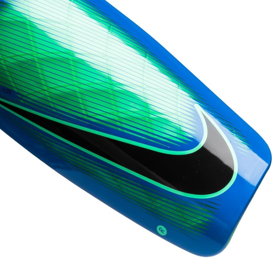 nike prot ge tibias mercurial lite motion blur vert bleu noir. Black Bedroom Furniture Sets. Home Design Ideas