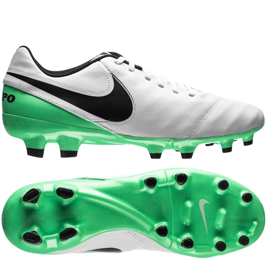 fcf54fdf63d1 nike tiempo genio ii fg motion blur - white black electro green - football  ...